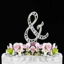 fashion crystal rhinestone cake topper party decoration