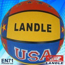 Rubber basketball new style custom all sport's ball brand