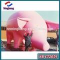 Nb-ct2059ningbangoxfordผ้าเคลือบพีวีซีพับสีชมพูหมูการ์ตูนพองสำหรับการโฆษณา