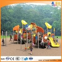 Stainless steel tube slide park popular playground children outdoor wood playground
