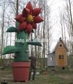 Géant gonflable fleur, les plantes en pot pour la publicité gonflable