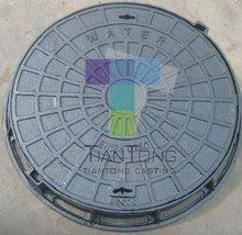 EN124 dia 60mm round cast iron manhole cover