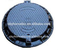 BS EN124 heavy duty cast iron manhole cover with lock & rubber sealing on sale