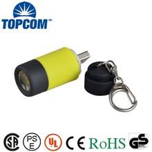 Rotary Switch USB Charger Mini PVC LED Keychain
