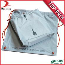 Printing top sales plastic drawstring bag from china