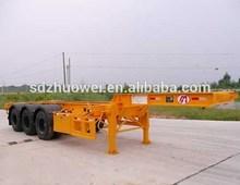 skeleton semi trailer, trailer frame, trailer chassis transport container