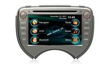 In car dvd player+gps+bluetooth+radio+mp3 multimedia system for Nissan March