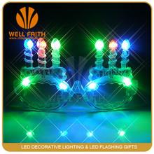Kids Toy Happy Birthday Led light glasses