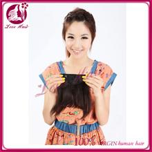 fashion style 100% human hair bang with clips natural color human hair bangs