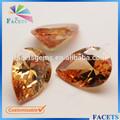 facetas gems atacado custom artificial pêra cz bruto pedras preciosas