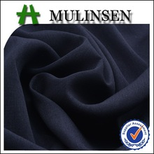 Mulinsen Textile Heavy Weight 75D Polyester Black Color Diamond Georgette