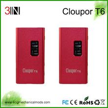 Shenzhen Alibaba Wholesale Price High End 100W , Original Latest E Cigarette Mechanical Mod 100 Watt Cloupor T6 Mod Chip