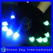 Designer Crazy Selling Lights Led Gloves Slow Color Morphing