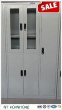 luoyang Factory design four door orange metal cupboard / filing cabinet