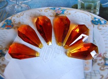 Crystal Almond Prisms Amber beads MH-12319