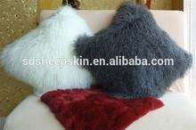 Sheepskin Pillow Tibet Wool plush flower shaped pillow