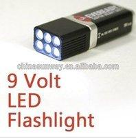 square led flashlight 9v
