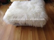 Long Hair Tibet Animal Skin Cushion Lamb Fur Skin Cushion