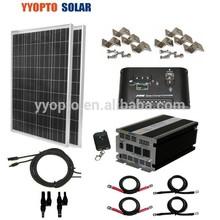 COMPLETE KIT 195 W Watt 195W Photovoltaic PV Solar Panel 12V RV Boat Off Grid