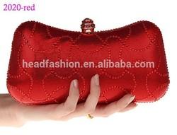 2020-red 2014 fashion elegant lady clutch bag designer evening clutch lady bags