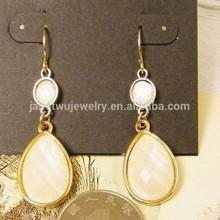 2015 hot wholesale elegant fashion zinc alloy women earrings fashion resin tear drop earrings