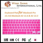 professional high quality standard silicone keyboard cover for macbook