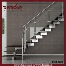 modern interior metal glass stairway