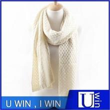 Comfortable Lady plain white silk scarf