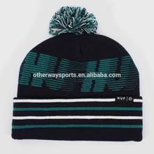 men's fancy acrylic fancy knit beanie hats fashion winter hats