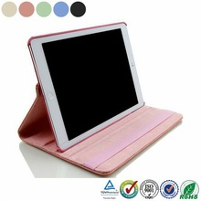 360 rotating magnetic PU Leather case smart cover swivel stand for ipad air 2 air2 ipad 6