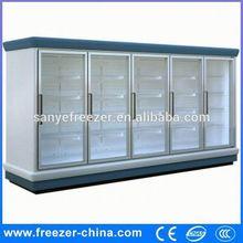 Comercial frigorífico refrigeração ferramentas e equipamentos de supermercado porta de vidro geladeira