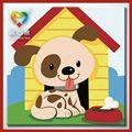 การ์ตูนภาพวาดสีน้ำมันสุนัขจูไห่trueheartedimagicสาว