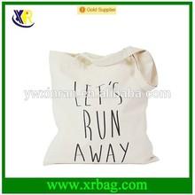 fashion new design blank custom cotton canvas tote bag