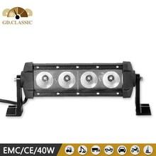 excellent performance 40w 4x4 led offroad bar mini black light led