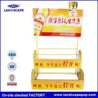 alcohol beverage cardboard floor display units