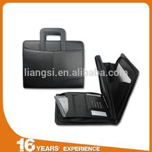 cheap men business art A4 pu leather folder certificate portfolio