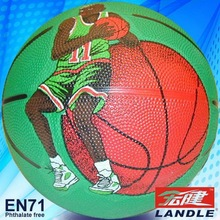 Novel style official size 7 rubber made promotional outdoor basketball