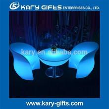 Plastic Confortable LED Arm Bar Chair