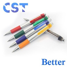 Popular Promotional Plastic Ballpoint Pen With Sand Blasting Cover