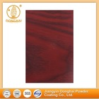 Heat transfer decorative wood powder coating