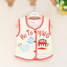 The new super soft cotton velvet vest Korean fashion printing youngster winter Children vest wholesale children's clothing