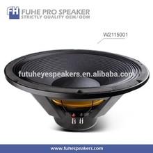 W2115001 21inch neodymium profesional outdoor subwoofer speaker