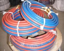 High pressure flexible rubber twin line oxygen acetylene welding hose/pipe