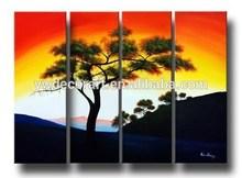 Oil painting autumn landscape