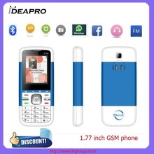 "1.77"" High quality mobile phone with whatsapp/ facebook/Internet Cheapest GSM mobile phone"