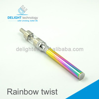 Variable voltage e-cigarette battery rainbow ego twist e-cig battery hot selling