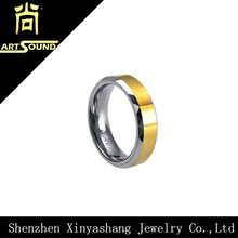 comfort fit high quality mens wedding ring gold tungsten