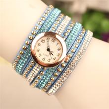 2014 New Product Woman Ladies Leather Crystal Watches Women Dress Quartz Wristwatch Hour Swan Pendant
