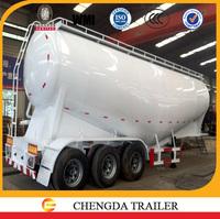 Fire promotion 45cubic meter tri-axle bulk cement tank truck trailer