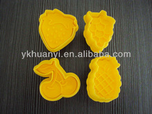 4 pcs plastic plunger cutters sugarcraft cake decorating tools UFO theme fondant plunger cutter